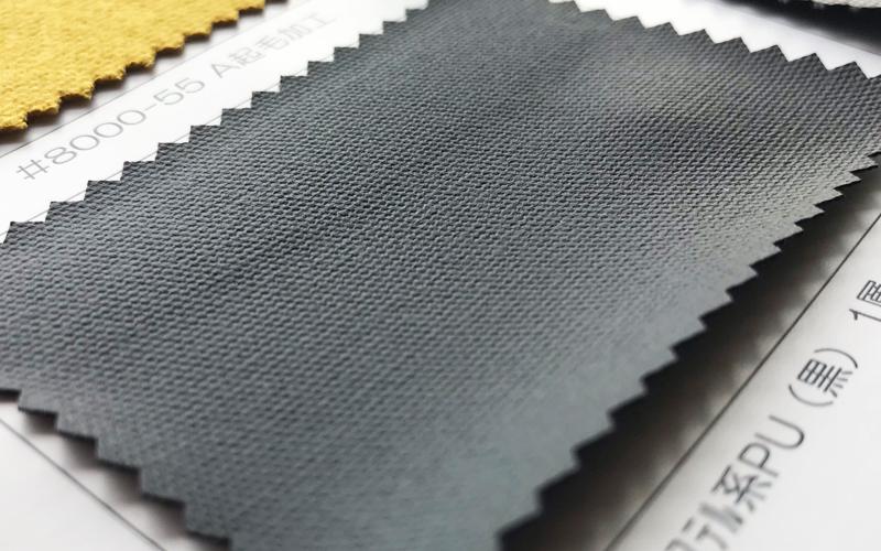 綿オックス エステル系PU(黒)1層 目出し加工 ツヤ消